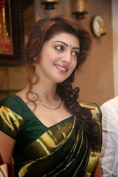 Kannada Beauty Pranitha Subhash Photos In Green Pattu Saree - Actress Doodles Beautiful Girl Indian, Most Beautiful Indian Actress, Beautiful Saree, Beautiful Gorgeous, Beautiful Women, Beautiful Bollywood Actress, Beautiful Actresses, Beauty Full Girl, Beauty Women