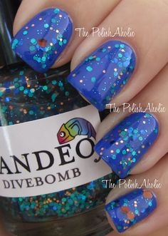 The PolishAholic: NOTD: Nails Inc Baker St. + Candeo Divebomb