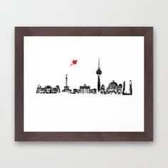 Berlin City Skyline , Germany , Bahn Tower, Brandenburg Gate, Berlin Cathedral, Reichstag Building - product images
