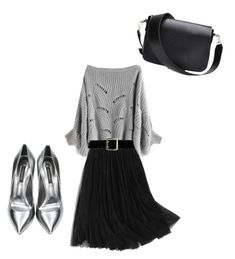 """Senza titolo #70"" by rockyourpetiteness on Polyvore featuring moda, WithChic, Casadei e Express"