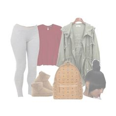 """""""i was down but im up now."""" by chicbre ❤ liked on Polyvore featuring Topshop, UGG Australia and MCM"""