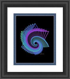 abstract star of david 517c fractal , by  fractal mandala art