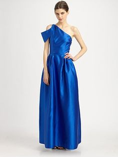 glamorous one shoulder gown!