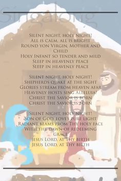 silent night holy night karaoke for children - cartoon version - Christmas Carol 2018 Songs For Toddlers, Kids Songs, Christmas Carol, Christmas Ideas, Carol Lyrics, Silent Night Holy Night, Songs To Sing, Cartoon Kids, Mother And Child