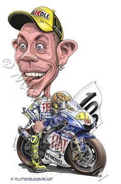 Valentino ROSSI Motogp Valentino Rossi, Logo Valentino Rossi, Motorcycle Art, Bike Art, Caricature Art, Vale Rossi, Motocross, Gp Moto, Moto Bike
