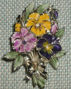 May Pansy Birthday Flower Brooch by Exquisite