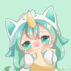 Pajama sg Soraka 💚 She's cuteeee Lol League Of Legends, Ezreal League Of Legends, League Of Legends Personajes, League Of Legends Characters, Fanarts Anime, Anime Chibi, Kawaii Anime, Desenhos League Of Legends, Manga