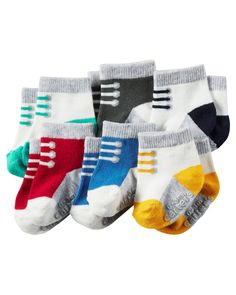 Baby Boy 6-Pack Booties from Carters.com. Shop clothing & accessories from a trusted name in kids, toddlers, and baby clothes.