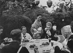 Hitler Youth members on a trip to Japan, dining at the German embassy August 16th 1938