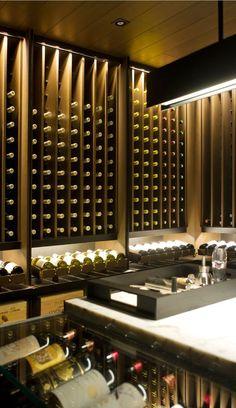my wine cellar- mein Weinkeller my wine cellar - Wine Cellar Design, Wine Design, Wine Shelves, Wine Storage, Cave A Vin Design, Villa Luxury, Home Wine Cellars, Wine Display, Wine Wall