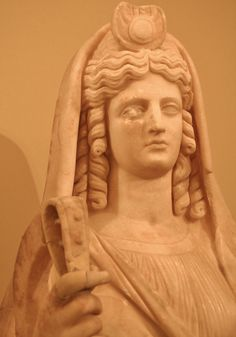 Isis-Persephone, with her symbolic ornament on her head (disc and cresent), Roman, A.D. 180-190, found in Gortyn Crete, Heraklion Archaeological Museum, Crete, Summer 2010