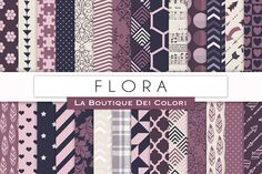 Flora Patterned Papers