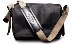 Brooks bicycle messenger bag in asphalt. Love the rustic look. Made in Italy.