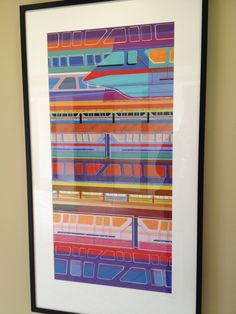 Modern Monorail print from Bay Lake Tower. MouseTalesTravel.com. I would totally hang this in my home.