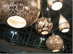 IDS moroccan style lights Interior Architecture, Interior Design, Interior Ideas, Moroccan Table, Orb Light, Moroccan Lighting, Makeup Store, Sweet Home, Ceiling Lights