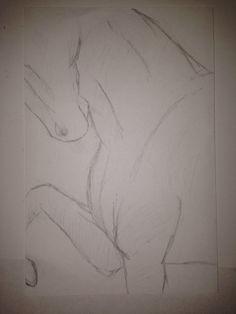 Flexed #Horse #Saddlebred #Sketch #FreeHand #Saddleseat