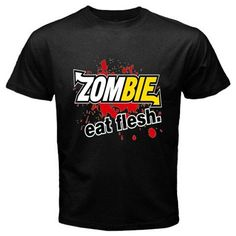 Funny T-Shirts (Eatflesh) Great Gift Ideas for Adults Men Boys Youth and Teens Collectible Novelty Shirts - Medium - Black ...