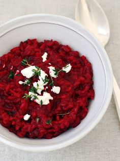 beet risotto for valentines day