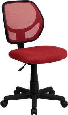 Flash Furniture WA-3074-RD-GG Mid-Back Red Mesh Task   and Computer Chair  Price : 120.00$ Sale Off Price: 51.12$