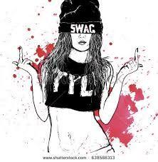 """Résultat de recherche d'images pour """"drawing girl swag"""""""