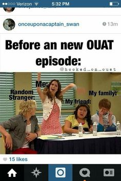 So true #OUAT. However, I once had the fortune for random stranger to be not only really cute, but a total fanboy. It made my life.