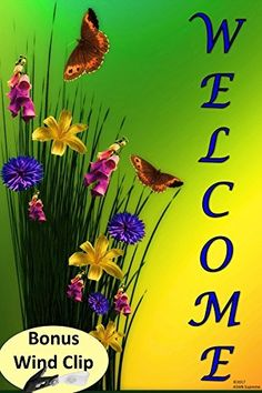 Decorative Butterfly and Flowers Welcome Spring Summer Garden Flag 12 x 18 for the Yard Outdoors by ASWB Supreme, http://www.amazon.com/dp/B0722TJV62/ref=cm_sw_r_pi_dp_x_Z68FzbJBZHEJV