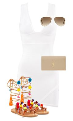"""""""Untitled #10588"""" by alexsrogers ❤ liked on Polyvore featuring мода, Ray-Ban и Yves Saint Laurent"""