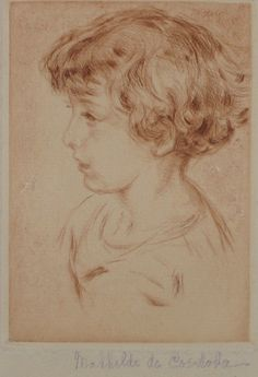 [PROFILE PORTRAIT OF A YOUNG GIRL], N.D. by Mathilde de Cordoba