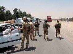 Kurdish peshmerga forces take control of Toz Khormato after ISIS take control of the north...