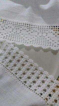 New Crochet Blanket Edging Picot Ideas - Diy Crafts - hadido Crochet Blanket Edging, Crochet Edging Patterns, Crochet Lace Edging, Crochet Borders, Filet Crochet, Diy Crochet, Crochet Doilies, Crochet Stitches, Knitting Patterns