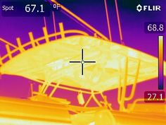 Reflective Images in a Fiberglass Hard top. Shows just what factors can hurt a good IR Inspection. Thermal Imaging, Factors, It Hurts, Top, Travel, Image, Viajes, Traveling, Trips