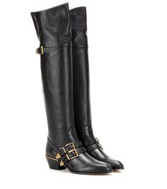 mytheresa.com - Leather over-the-knee boots - Luxury Fashion for Women / Designer clothing, shoes, bags