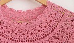 Patrones de vestido crochet para niña en punto piñas / DIY | Patrones para Crochet Diy Crochet Top, Black Crochet Dress, Crochet Yarn, Crochet Stitches, Crochet Gratis, Crochet Toddler, Baby Girl Crochet, Crochet Baby Clothes, Crochet For Kids