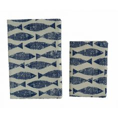 Large Fabric Covered Notebook- Fish ahoy use it for church or fishing notes