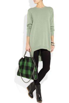 492d9d689a49 Stella McCartney - Falabella covertible wool plaid shoulder bag