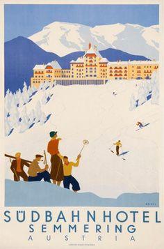 Sudbahn Hotel, Austria ski poster