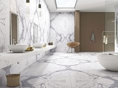 Avail complete packages for bathroom fitting, repairs, plumbing, skimming and staircase renovation services from experts of Northwest Tradesman. For portfolio, visit their website. Manchester, Tiles Texture, Calacatta, Grey Pattern, White Tiles, Stone Flooring, Amazing Bathrooms, White Porcelain, Double Vanity