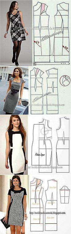 Fashionable Dress M Deniz Sewing Dress, Dress Sewing Patterns, Diy Dress, Sewing Clothes, Clothing Patterns, Fashion Sewing, Diy Fashion, Fashion Dresses, Moda Fashion