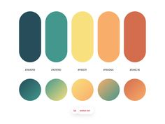 Dopely Colors by Mehdi Khodamoradi on Dribbble Flat Color Palette, Colour Pallette, Colour Schemes, Color Combos, Ui Color, Gradient Color, Color Box, Web Design, Graphic Design