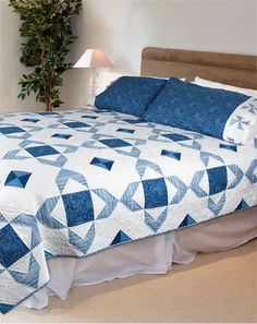 """A Touch of Blue"" by Cathy Anderson and Denise Gaidis (from Quilt Trends Winter 2013 issue)"