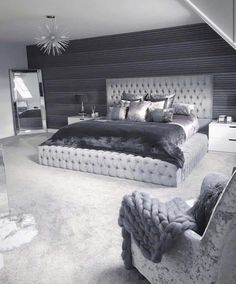 33 Amazing Cozy Master Bedroom Design Ideas You are in the right place about bedroom inspirations master Here we offer. Dream Rooms, Dream Bedroom, Home Decor Bedroom, Living Room Decor, Cozy Bedroom, Bedroom Furniture, Bedroom Colors, Trendy Bedroom, Bedroom Neutral