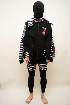 jacket/cape x jumpsuit