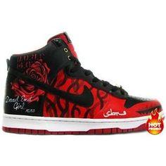 21c32acefc Women Nike Dunk High Ryoalefam Valentines Day Die Die My Darling Custom  Sneakers, Custom Shoes