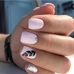 Unhas curtas decoradas: 80 ideias e tutoriais para fazer em suas unhas - de uñas acrilicas bonitas cortas decoradas de moda gelish Acrylic Nail Designs, Nail Art Designs, Acrylic Nails, Shellac Nails Fall, Spring Nail Trends, Spring Nails, Cute Nails, Pretty Nails, Dream Nails