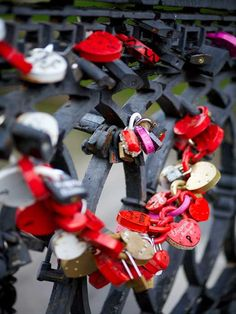 #Love padlocks in the park around Novodevichy Convent, #Moscow.
