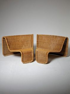 Incredible Large Wicker Set by Tito Agnoli for Bonacina 50s Furniture, Wicker Furniture, Furniture Design, Outdoor Furniture, Modern Love, Hotel Interiors, Dream Home Design, Take A Seat, Furniture Upholstery