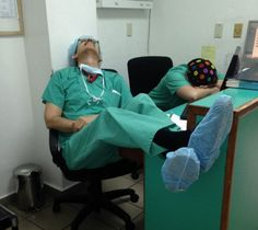 A guy who posted photos of doctors sleeping on duty didn't get the reaction he'd expected
