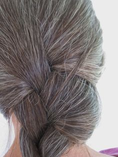 Long grey hair on older women. Gorgeous. I have seriously been excited for my hair to go grey ever since I was a little girl.