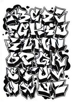 Graffiti Alphabet Letter A-Z by Dadou