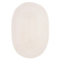 Colonial Mills TK10R Ticking Stripe Oval Area Rug, Canvas